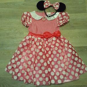 NWOT minnie mouse dress and headband